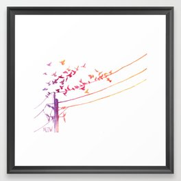 Through The Wire Framed Art Print
