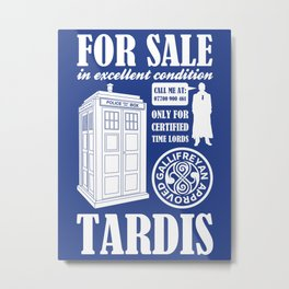 Tardis for sale Metal Print