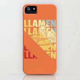 Lama Noodle Ramen Soup Vintage Retro iPhone Case
