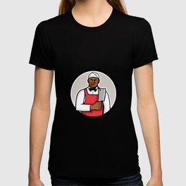 African American Butcher Circle Mascot T-shirt