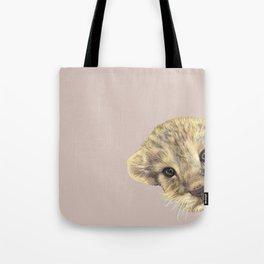 peeping lion cub Tote Bag