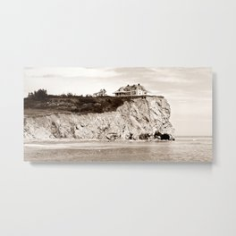 Big House on the Cliff panoramic Metal Print