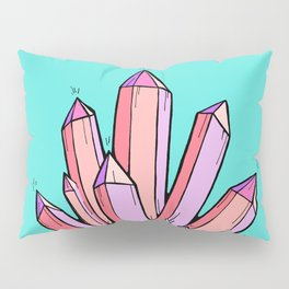 Crystal Cluster- Pink & Mint Pillow Sham