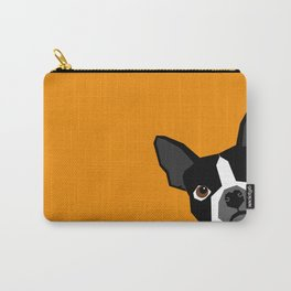 Peeking Terrier funny dog art customizable gift for dog lovers dog person must haves Carry-All Pouch