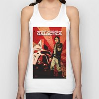 battlestar Tank Tops featuring Battlestar Galactica by Storm Media