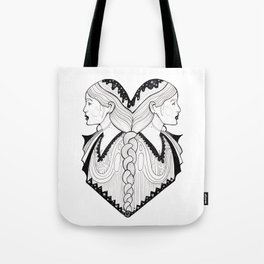 Gemini - Zodiac Portrait Tote Bag