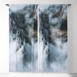 Moody Switzerland Mountain Peaks - Landscape Photography Blackout Curtain
