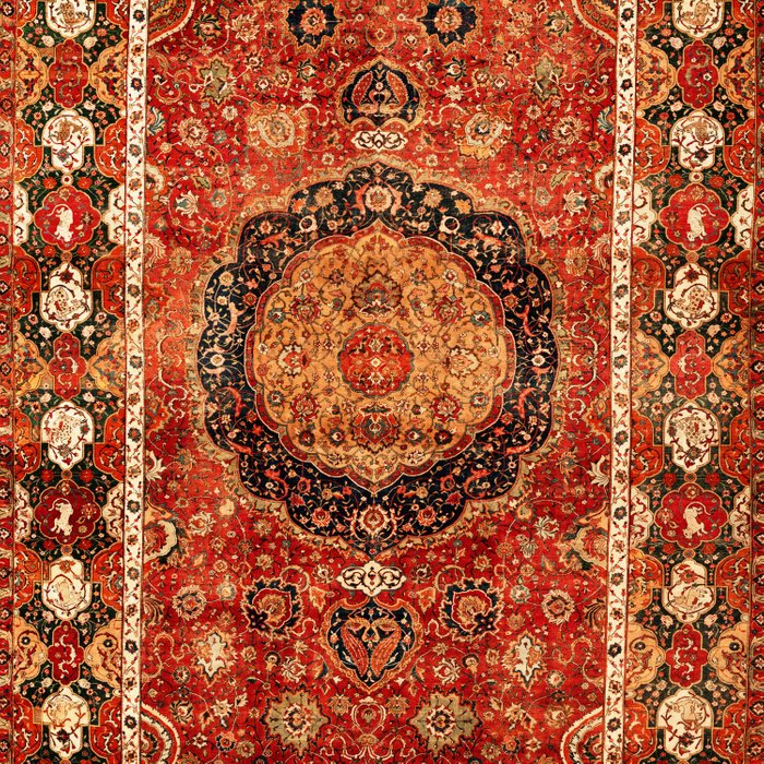 Seley 16th Century Antique Persian Carpet Print Comforters