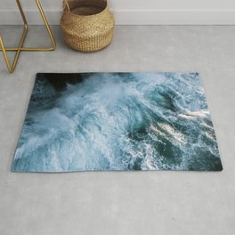 Wave in Ireland during sunset - Oceanscape Rug