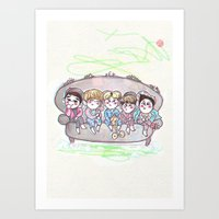 shinee Art Prints featuring Dream SHINee by sophillustration