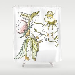 Little Girl and the Old King - Inspiration of Elsa Beskow Shower Curtain