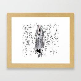 kaa on white Framed Art Print