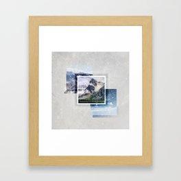 Inspiring mountain Framed Art Print