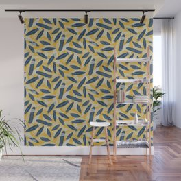 Guinea Fowl Feathers Wall Mural