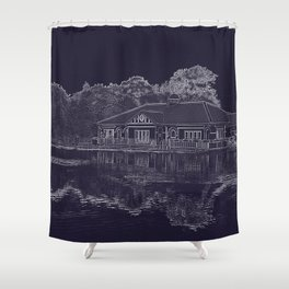 Lake House Etching Shower Curtain