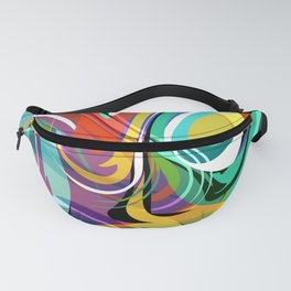 Colorful Abstract Whirly Swirls - V2 Fanny Pack