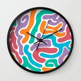 Confetti Snakes Wall Clock
