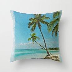 Tropical Blue Heaven Throw Pillow