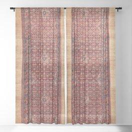 Hamadan West Persian Long Rug Print Sheer Curtain