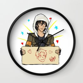 Klance, Keith draws Lance Wall Clock