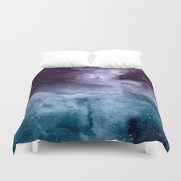 Watercolor and nebula abstract design Duvet Cover