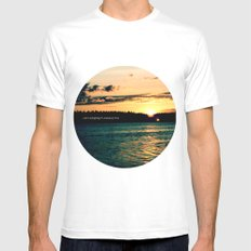 Summer Love SMALL White Mens Fitted Tee