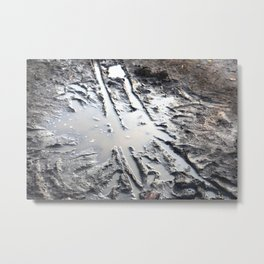 muddy puddle abstract Metal Print