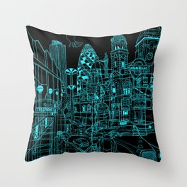 London! Night Throw Pillow