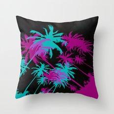 California Palm Trees at Night  Throw Pillow