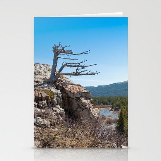 Windswept tree Stationery Cards