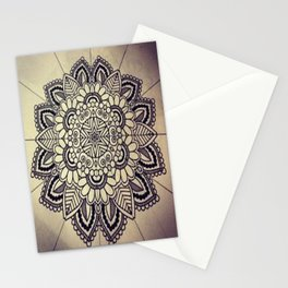 Mandala Green  Stationery Cards