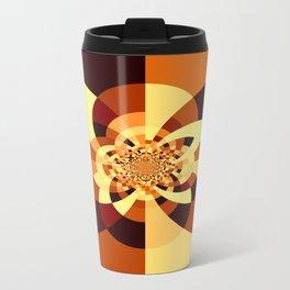 Orange Brown Kaliedoscope Travel Mug
