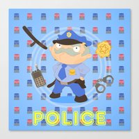 police Canvas Prints featuring Police by Alapapaju