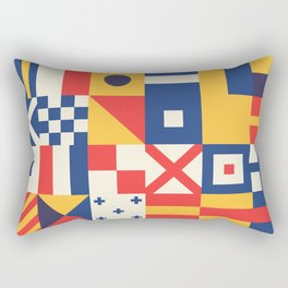 Maritime Nautical Signal Flags Rectangular Pillow