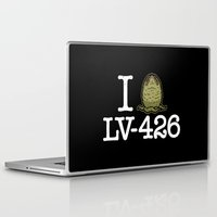 lv Laptop & iPad Skins featuring I Love LV-426 by Mike Handy Art