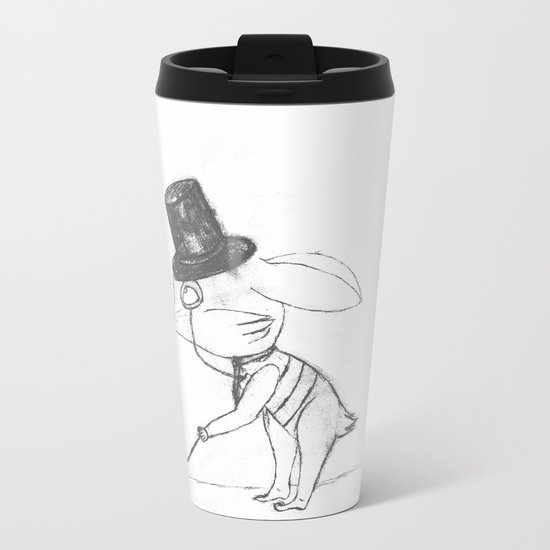 Bankster Bunny Metal Travel Mug