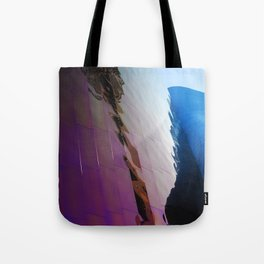 distorted Space Needle Tote Bag