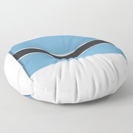 Flag of Botswana. The slit in the paper with shadows.  Floor Pillow