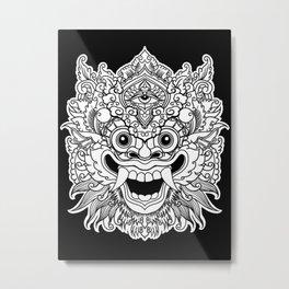 Bali Traditional Barong Mask Metal Print