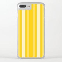 Mustard Victorian Lady Stripe Clear iPhone Case