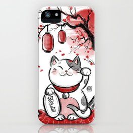 Japanese Neko iPhone Case