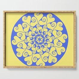 True Blue Mandala Serving Tray