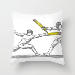 Parry Thrust Pencil Erase Throw Pillow