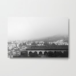 Fog in Granada Metal Print