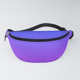 Neon Purple and Bright Neon Blue Ombré Shade Color Fade Fanny Pack