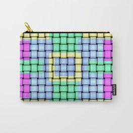 Beautiful Pastel Weave Texture Carry-All Pouch
