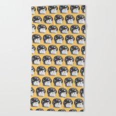 Minifigure Pattern – Yellow Beach Towel