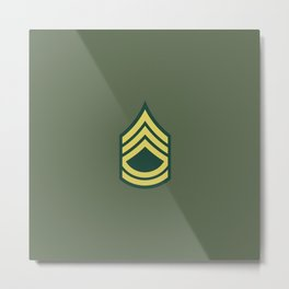 Sergeant First Class (OD Green) Metal Print