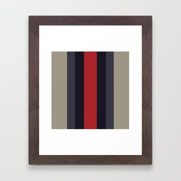 High Fashion Designer Style Stripes Framed Art Print