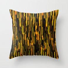 vertical brush orange version Throw Pillow
